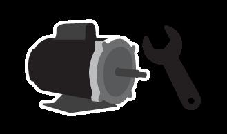 Servicio de supervisión y mantenimiento de turbinas para inflables.
